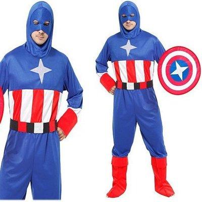【洋洋小品大人星星美國戰士服裝MR24】隊長衣服萬聖節服裝,聖誕節服飾,變裝派對,大人變裝服-美國復仇者聯盟