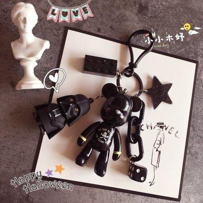黑武士星星骷髏暴力熊 鑰匙圈 ❤韓國正版POPOBE公仔 小熊吊飾 掛件 擺飾  禮物/禮盒裝☀小小木妤╭❀