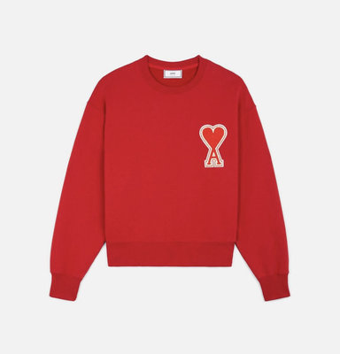 《限時代購》  Ami logo red sweater 愛心 logo 紅色 長袖