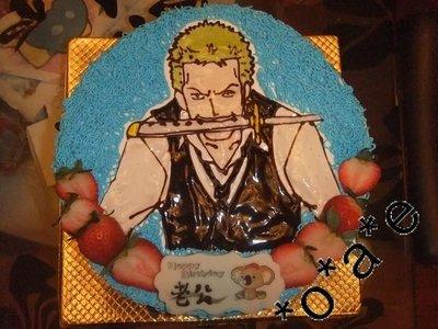 Co Cake - ONE PIECE 海賊王 卓洛 Zoro 蛋糕 生日蛋糕 歡迎來圖訂做