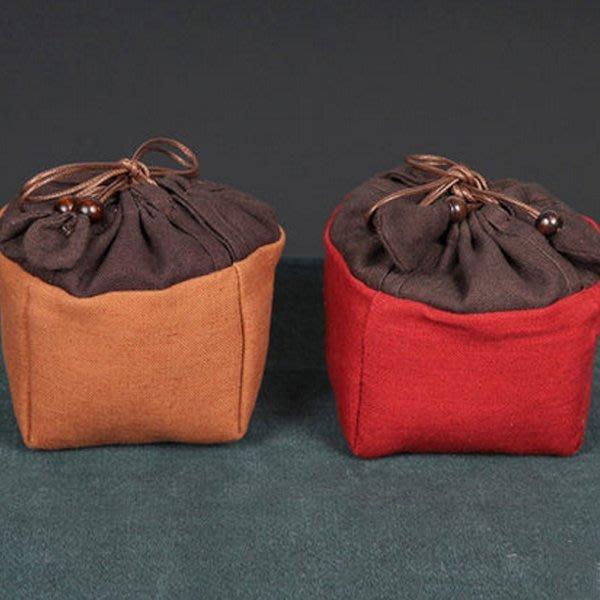 5Cgo【茗道】含稅會員有優惠 520304062710 蓋碗袋保護袋便攜旅行用茶具收納包布袋茶壺杯袋棉麻布加厚單杯茶具