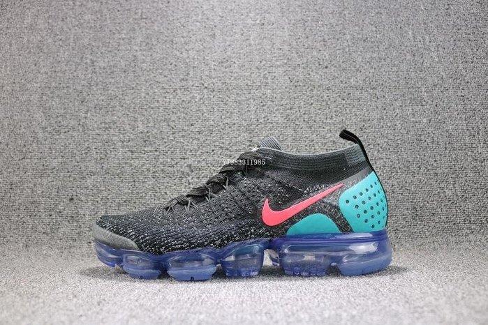 Nike Air VaporMax Flyknit 黑綠 經典 氣墊 休閒慢跑鞋 男女鞋 942842-003