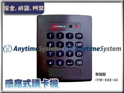 安力泰系統~TW-522-U  感應式讀卡機 直購價2000元(保全 防盜 監視)