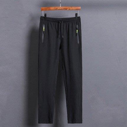 [C.M.平價精品館]XL現貨最後一件出清特價/速乾透氣輕薄舒適鬆緊腰寬雙拉鏈休閒登山褲/運動休閒跑步長褲