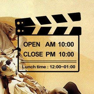 小妮子的家@電影開拍營業時間壁貼/牆貼/玻璃貼/瓷磚貼/汽車貼/傢俱貼