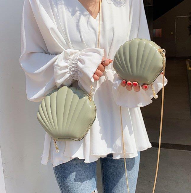 SEYES  日韓甜美復古人魚貝殼小包