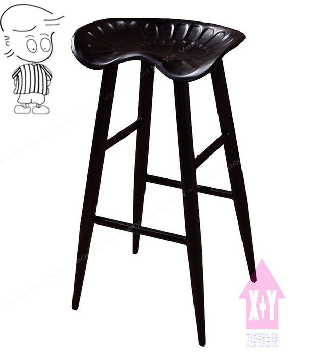【X+Y時尚精品傢俱】現代吧檯椅系列-庫克 黑腳吧台椅.高腳椅.適合餐廳. 工作椅使用..摩登家具