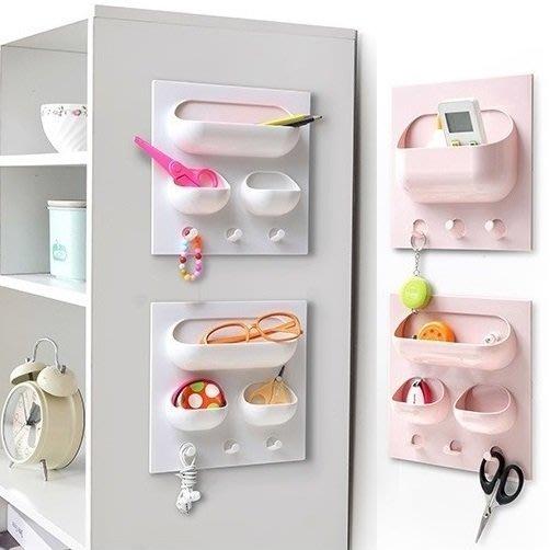 牆壁收納架 浴室黏貼整理架 置物架 黏貼免鑽洞 廚房 辦公室 居家收納【RS731】