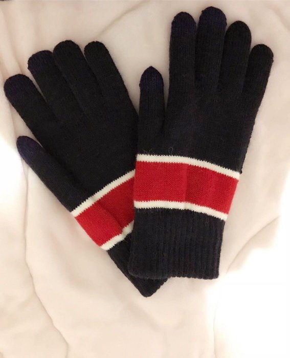 缺*中性款聖誕禮物‧冬日溫暖禦寒雙層觸控手套‧特賣
