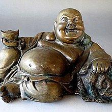 【 金王記拍寶網 】J3154   中國近代銅雕   財神彌勒佛 一尊 罕見 稀少