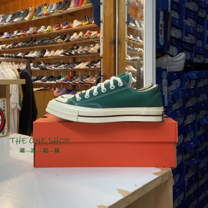Converse Chuck Taylor 70s 1970s 三星標 綠色 深綠色 低筒 復刻 帆布鞋 168513C