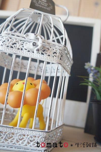 ˙TOMATO生活雜鋪˙日本進口雜貨仿舊刷白鳥籠吊飾家飾品