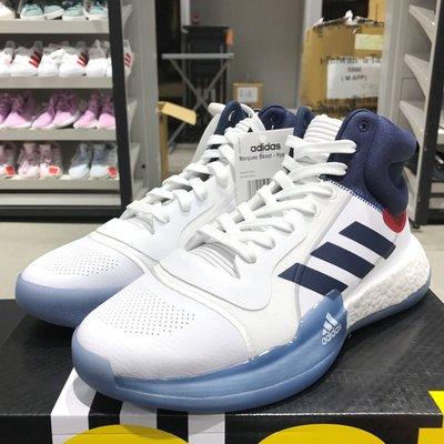 【免運實拍】愛迪達Adidas Marquee Boost高筒籃球鞋 美國隊配色編織運動鞋 防滑耐磨男鞋 EH2451