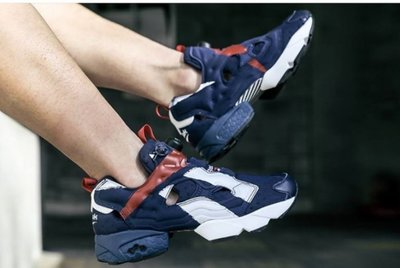S.G REEBOK INSTAPUMP FURY OVER BRANDED 藍紅白 男女 情侶 慢跑鞋 AR3197