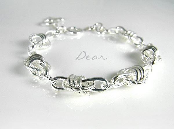 ◎【 Dear Jewelry 】◎ 正妹 辣妹 帥哥人人都適合-老師傅的手創手工銀手鍊│厚工用料---免運