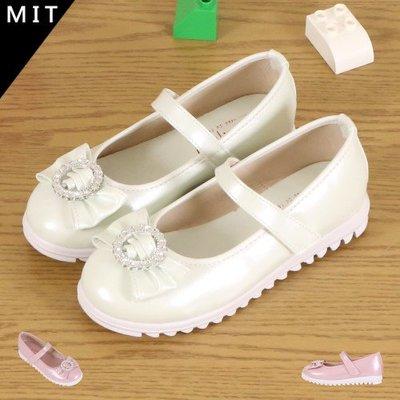 女童 MIT製造 魔鬼氈蝴蝶圓鑽飾品 公主鞋 娃娃鞋 厚底鞋 Ovan
