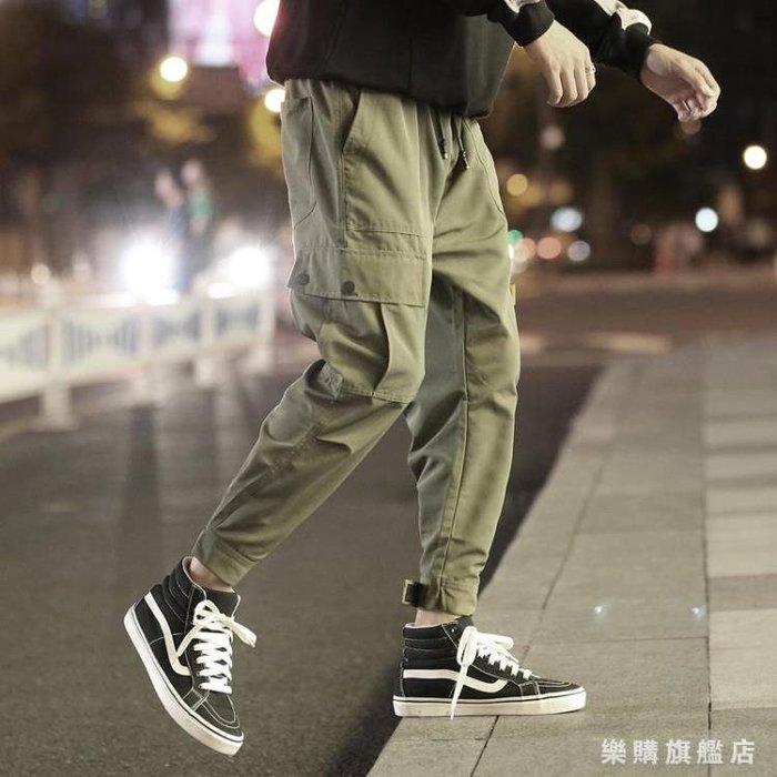 褲子男士工裝褲秋季正韓寬鬆潮流  獨品飾品吧☂