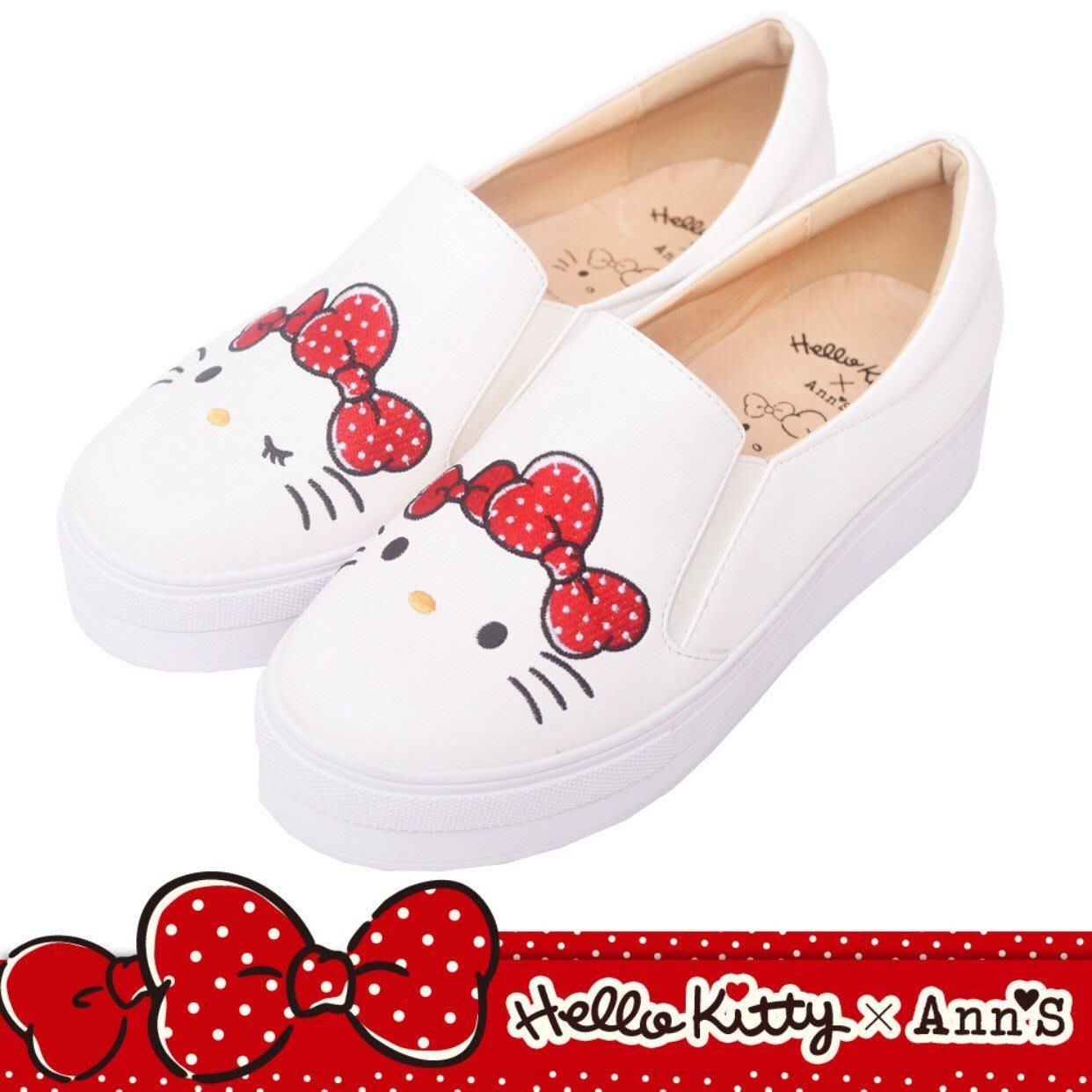 Hello Kitty X Ann'S彩色刺繡厚底懶人鞋