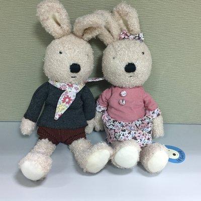 日本正品 le sucre 法國兔 砂糖兔 小碎花系列造型 絨毛玩偶