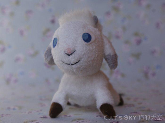 《Cat Sky》日本進口.單純無瑕的友情『翡翠森林狼與羊』羊咩磁鐵/互動玩具