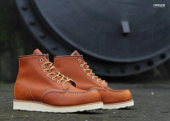 INDiCE ↗ Red Wing Classic Moc 875 經典六吋工作靴 原木棕 美國製
