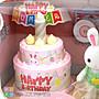 ◎寶貝天空◎【森林動物公仔-小兔生日蛋糕】森米家族考拉小鎮,快樂家族,公仔,袖珍小屋,娃娃屋,傢俱配件,可與森林家族通用