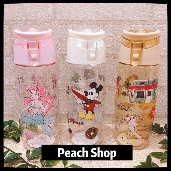 【桃子小舖 ♥ P.S 】直飲冷水壺 美人魚/米奇/奇奇蒂蒂/史迪奇 Disney Store