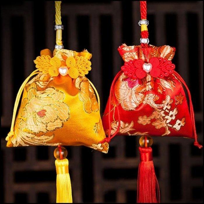 端午節香包香囊空袋子 中式古典兒童隨身diy材料驅蚊福袋香包荷包2個裝【小怪獸】