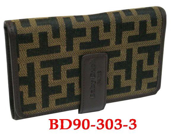 【菲歐娜】2990-(特價拍品)Baby Duck(吉祥系列)牛皮配針織緹花多隔層中夾(咖)BD90-303-3