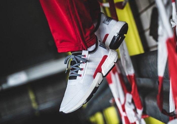 XinmOOn ADIDAS POD-S3.1 DB2928 WHITE RED 經典 休閒 慢跑鞋 白黑紅 男