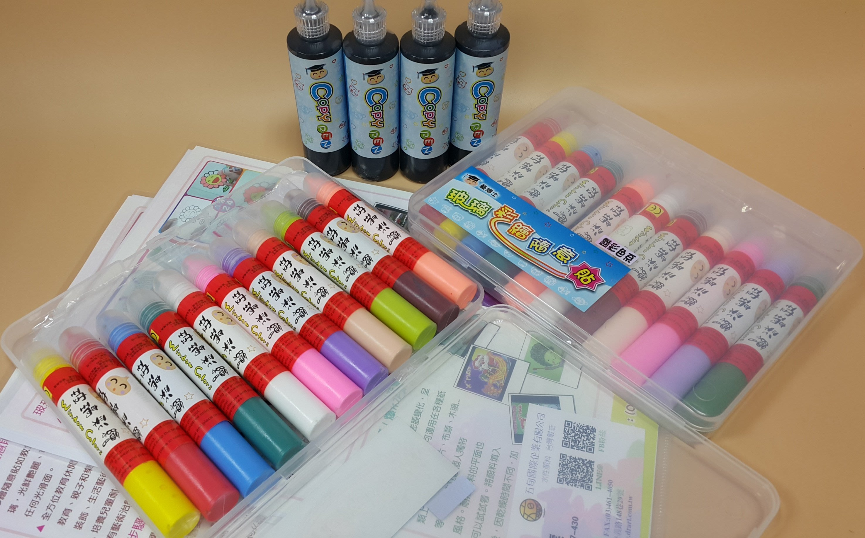 【五旬藝博士】 限量買一組送一組 玻璃彩繪隨意貼 23ML 小禮盒 (艷彩組) 送彩蔥組,還贈描邊筆!!