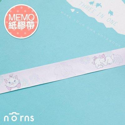 Norns 【MEMO紙膠帶-瑪麗貓】迪士尼 Bambi 筆記 留言 裝飾貼紙