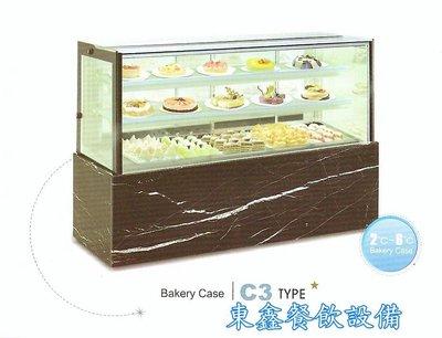 ~~東鑫餐飲設備~~C3 直角蛋糕櫃 / 4角玻璃後開門展示櫃 / 蛋糕冷藏展示櫥