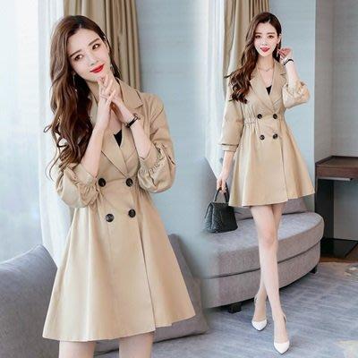 風衣 外套 七分袖大衣-時尚優雅氣質精選女外套2色73to33[獨家進口][米蘭精品]