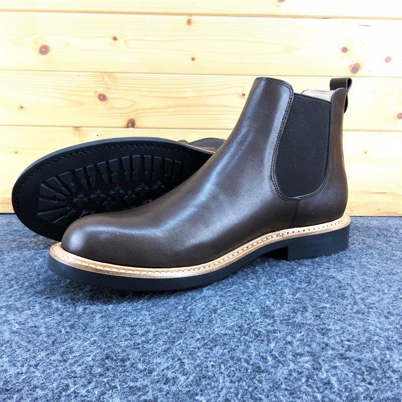 焦糖 (Chelsea Boots) 切爾喜靴 進口油蠟皮 固特異縫製 純橡膠底 牛皮厚底靴 工作靴 美式牛皮靴
