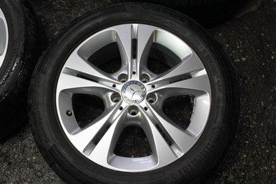 中古圏 新款 原廠Benz W205 5X112 17吋鋁圈 7J ET48.5 W204 W212 W213 一組