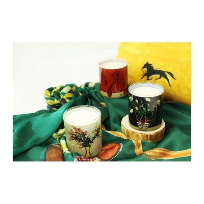 [龍鳥小舖] 國立歷史博物館~常玉典藏畫作蠟燭~檀香、茉莉、綠茶~一個590~一組特價1500~