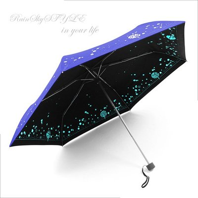 【RAINSKY傘】四季花卉雙絲印-輕量晴雨傘 (深海藍) / 雨傘抗UV傘防曬傘隔光傘防風傘手開傘折傘折疊傘 (免運)