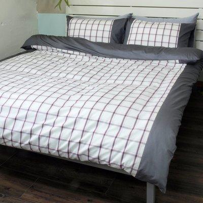 雙人加大6x6.2床包枕套三件組 / 40支100%精梳純棉 / 樂活 / 特價品 -麗塔寢飾-