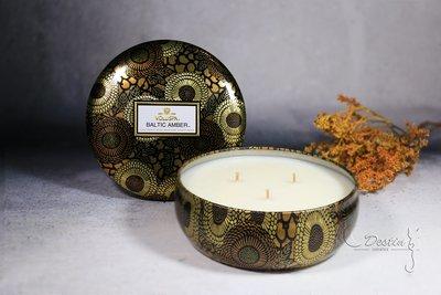 Voluspa 美國 香氛精油蠟燭 波羅海琥珀 Baltic Amber 12oz 鐵罐 全新 三芯