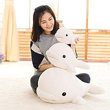 【便利公仔】含運 萌寵軟體納米泡沫粒子白鯨毛絨玩具海豚公仔布娃娃創意禮物送女生