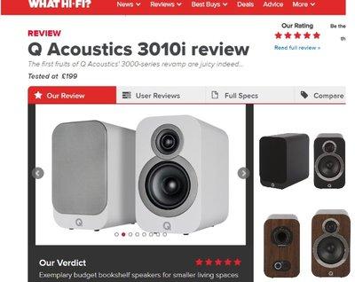 『英國 WHAT HI FI 五顆星最佳推薦』英國 Q Acoustics 3010i 喇叭『現貨可視聽可自取』