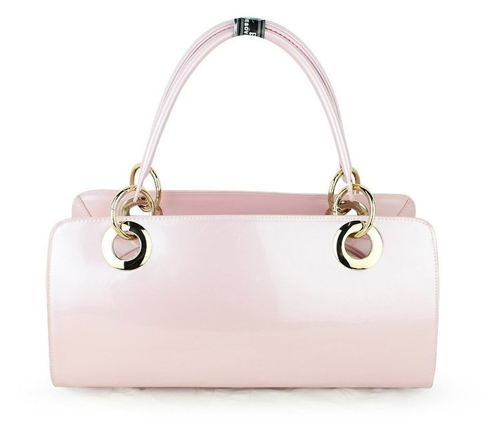 ~Linda~韓版新款春季潮時裝包女士手提包甜美時尚亮皮粉色漆皮女包包