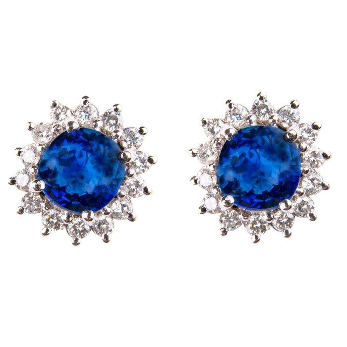 【JHT金宏總珠寶/GIA鑽石專賣】1.48/1.48克拉藍寶鑽石耳環材質:585/(2471)