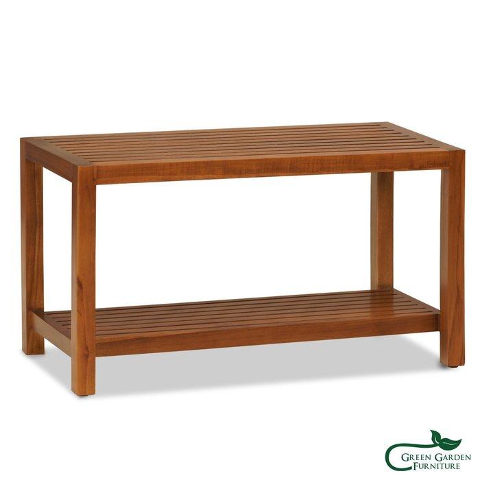 約克 柚木長板凳【大綠地家具】100%印尼柚木實木/經典柚木/實木板凳/實木層架/多功能/免組裝