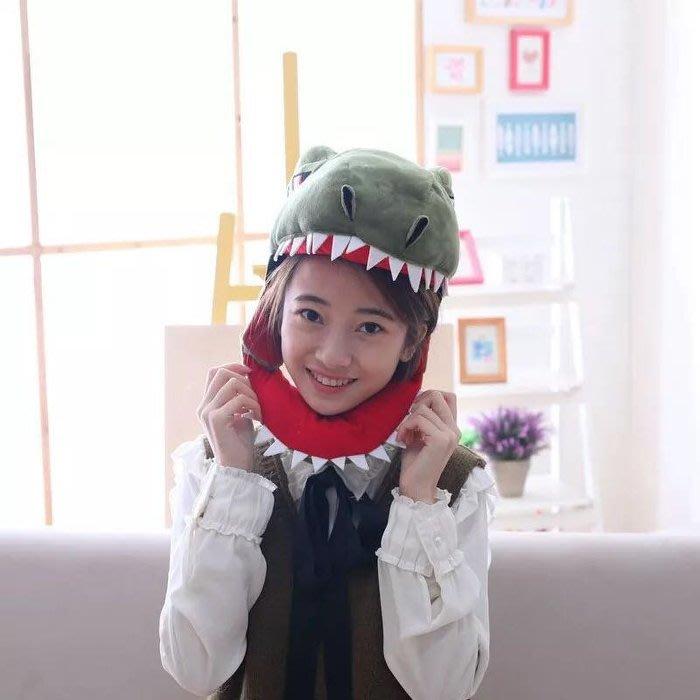 仿真創意恐龍鯊魚保暖帽網紅拍照道具毛帽造型帽毛帽兒童帽保暖帽/聖誕樹生日禮物禮品童帽