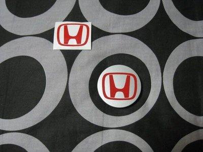 HONDA CIVIC 8代 9代 鋁圈蓋貼紙 紅色 日規化 TYPE-R 其他車款也可用 無限 (一組四張)