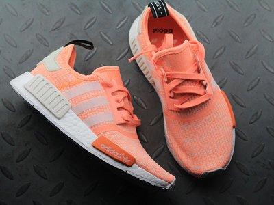 Adidas Originals NMD_R1 Sunglow Glitch 橘粉 慢跑鞋 女鞋BY3034