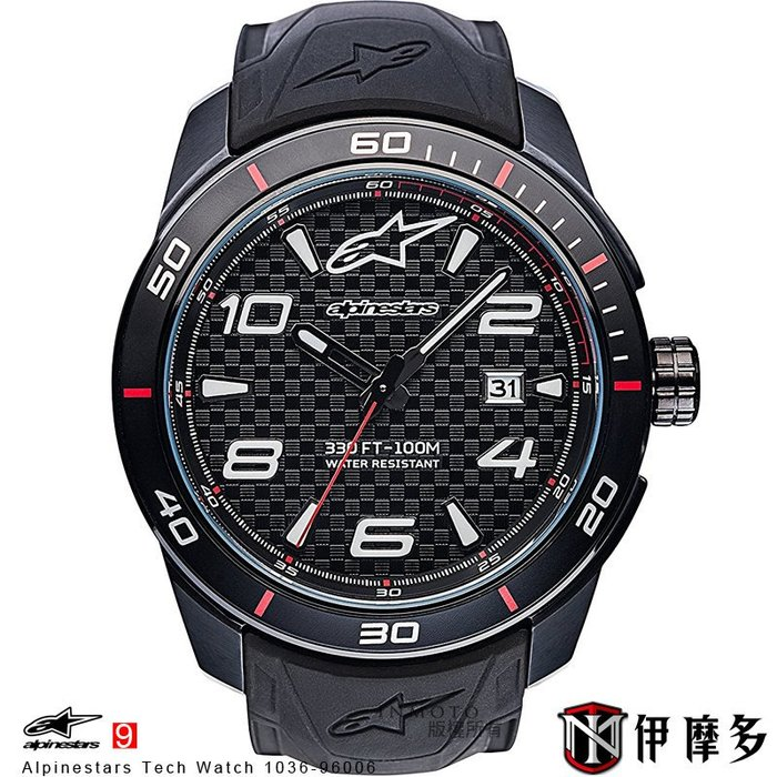 伊摩多※義大利 Alpinestars Tech Watch 手錶 腕錶 運動 奢華時尚 A星 1036-96006