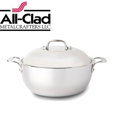 美國 All-Clad D3 STAINLESS 高級不銹鋼鍋具 5QT  4.7L 27cm 含蓋 湯鍋 燉鍋 荷蘭鍋